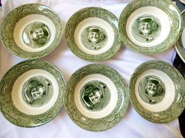 VTG Royal China The Old Curiosity Shop Lot of 6 Berry Cereal Bowls 5 7/8... - $40.84