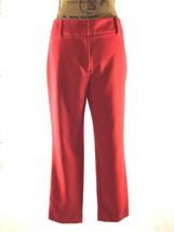 Ann Taylor dress pants womens M 6 Signature true red flat front stretch ... - $14.95