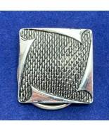 Square Silver Tone Scarf Clip Geometric Mesh Design Textured Scroll West... - $16.82