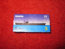 1988 The Hunt for Red October Board Game Piece: America Blue Ship Tab- NATO - $1.00