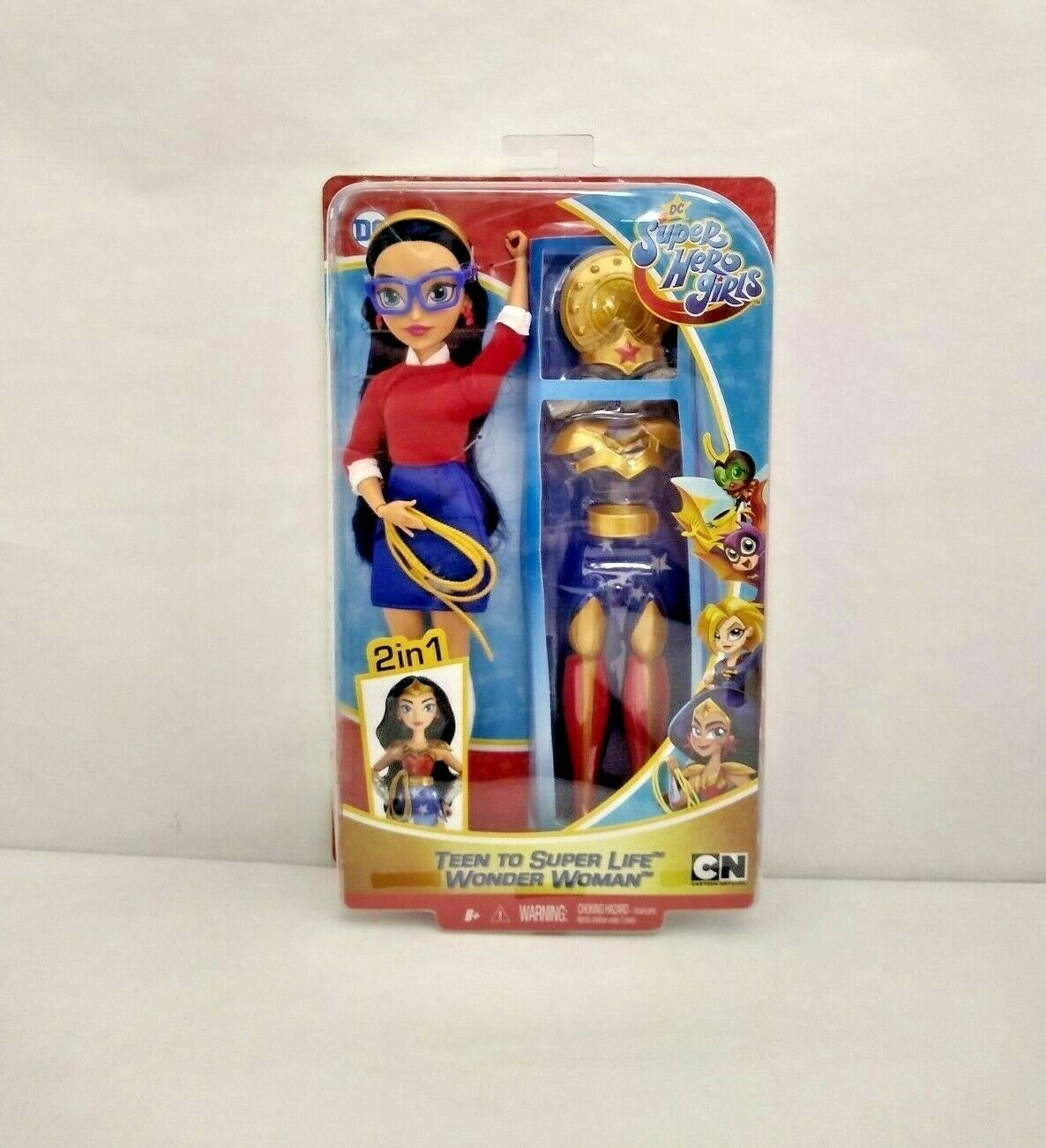 Primary image for DC Super Hero Girls Teen to Super Life Wonder Woman Doll - New in Damaged Box