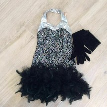 1920s DAZZLING FLAPPER COSTUME Sequined - $64.35