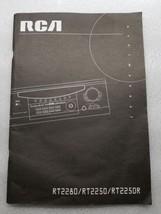 RCA RT2280 RT2250 RT2250R User Instruction Manual - $8.90