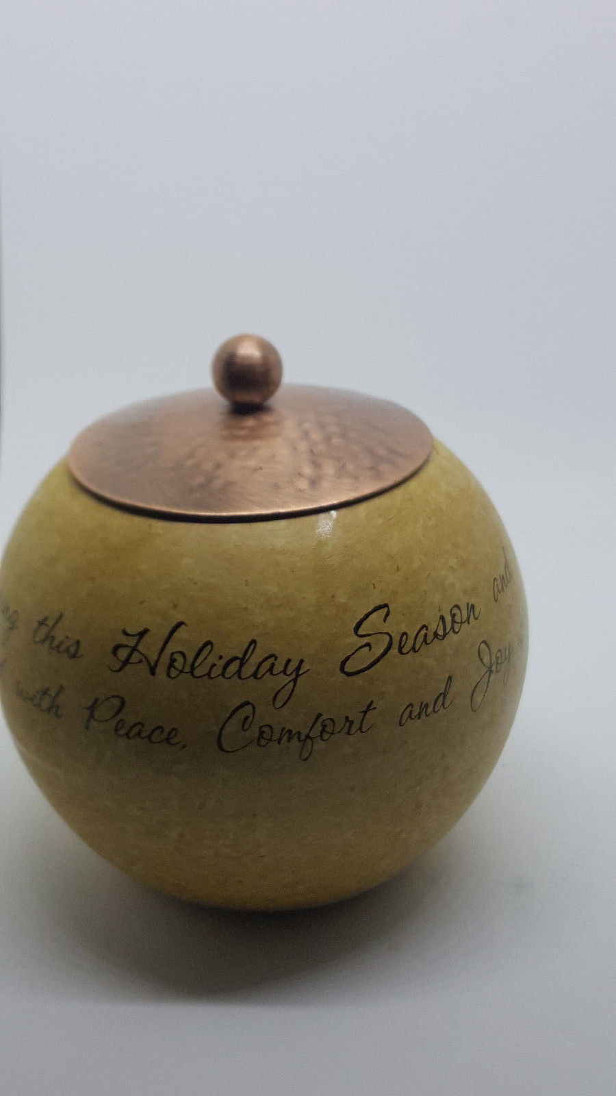 Pavilion Gift Company Comfort Candle 5-Inch Round Candle Holder, Family Holiday