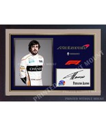 Fernando Alonso Formula 1 print photo poster signed autograph GP FRAMED ... - $19.27