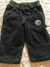 Genuine Baby Boys Green Corduroy Cloth Waist Pants Christmas Tree 3 Months - $5.48