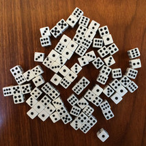 50PCS Plastic White 8mm Gaming Dice Birthday Parties Board Game Standard... - $5.43