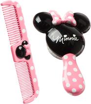 Baby Pink Minnie Hair Gentle Brush Wide Tooth Comb Set Kids Hair Groomin... - $11.34