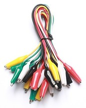 WGGE WG-026 10 Pieces and 5 Colors Test Lead Set & Alligator Clips,20.5 ... - $7.73