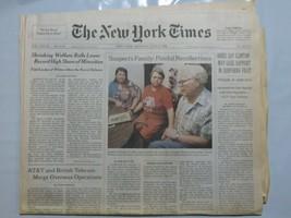 The New York Times 1998 July 27 Welfare AT7T British Telecom Merge Clint... - $39.99