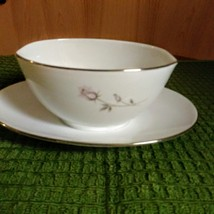 Vintage Noritake Pasadena Gravy Boat with Attached Plate Made in Japan image 1