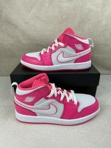 Nike Air Jordan 1 Mid Hyper Pink Youth Size 2y New in Box [640737-611] - $99.00