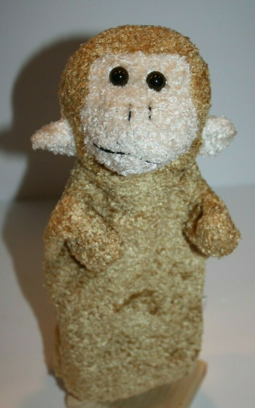 "Primary image for Dollar Tree MONKEY HAND PUPPET 11"" Beige Cream Plush Soft Toy Stuffed Doll Tan"