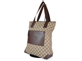 Auth GUCCI GG Pattern Canvas Leather Browns Shoulder Bag GS2083 - $198.00