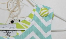 MudPie Giraffe Shortall Turquoise Lime Green Jumper 9 to 12 Months image 4