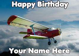 Happy Birthday Personalised Greeting card codeplane3 propeller plane - $3.92
