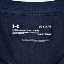 Under Armour Men's Loose HeatGear Navy Blue Short Sleeve T-Shirt Size L image 3