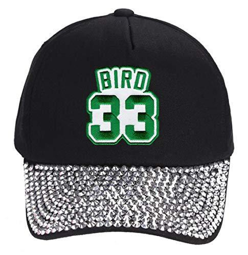 Larry Bird Hat - Boston Basketball Adjustable Women's Cap (Rhinestone Studded)