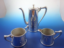 Coffee Pot, Creamer, & Sugar Bowl in Silverplat... - $165.75