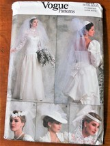 Vogue Pattern 9822 Bridal Veil & Headpiece Wedding Uncut Factory Folded - $14.35