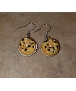 Delicious Everything Bagel Charm Earrings Silver Wire Clay Breakfast Bag... - $6.00
