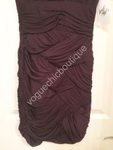 NWT Halston Heritage Ruched Jersey Mini Bodycon Dress Purple Aubergine XS 0 2 image 6