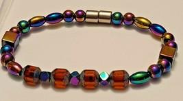 Magnetic Hematite Bracelet 7 inch  Single Strand  (MAG-004) image 2