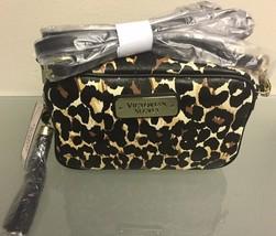 Victoria Secret Leopard Print Cross Body Makeup Bag w/ Tassel NWT - $34.60