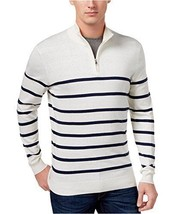 Club Room, Men's, 1/2 Zip Stripe Sweater, White Ivory, Sz.  XX-Large - £37.54 GBP
