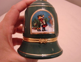 "Green Musical Porcelain Bell Shaped Ornament - ""Silent Night"" - $27.50"