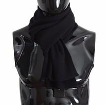 Dolce & Gabbana Black Cashmere Mens Scarf 517 - $213.30