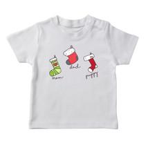 Cute Mom Dad And Puppy Christmas Socks  Boy's White T-shirt - £12.11 GBP