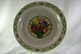 """Gibson Tulips Dinner Plate 10 1/2"""" - $6.92"""