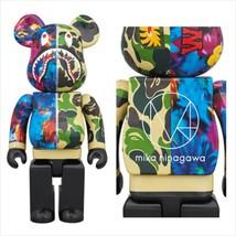 BE@RBRICK 400% & 100% mika ninagawa SHARK Green Medicom Toy Figure - $523.99