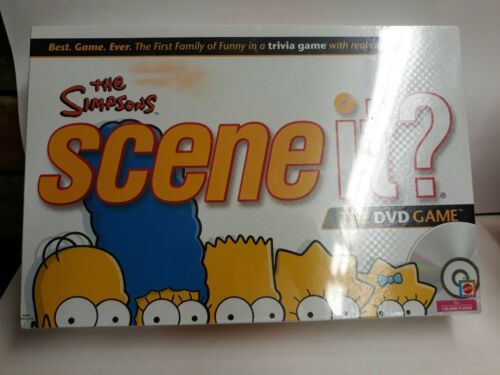 Primary image for THE SIMPSONS SCENE IT? FAMILY TRIVIA DVD 2009 MATTEL BOARD GAME-FACTORY SEALED