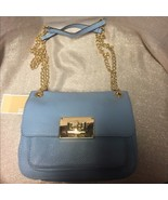 Michael Kors Sloan Small Grain Powder Blue Leather Shoulder Bag NWT - $149.00