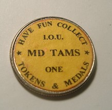 Maryland TAMS Token and Medal Society 1997 Quarter / Paper Overlay - $10.00
