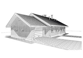 Оne-floor plan of Aerated Concrete(AAC)house email delivery,Russian desc... - $197.01