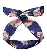 Self Tie Twist Bowknot Headband for Womens Ladies Chiffon Floral Hair Ba... - $20.50