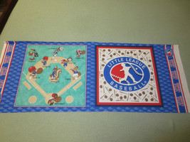 "756. Two-Sided LITTLE LEAGUE BASEBALL Craft PILLOW Panel - 44"" x 1/2 Yd. - $5.94"