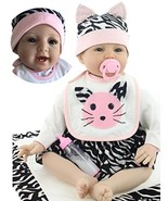 NPK Handmade Reborn Baby Dolls Girl Soft Silicone 22 inchs 55 cm Realist... - $89.98