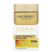 L'Oreal Night Cream 50ml Age Perfect Pro-Calcium Fortifying Anti Ageing Toning - $15.98