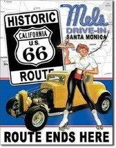 New Mel's Drive In Route 66 Ends Here Decorative Metal Tin Sign - $9.41