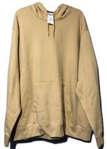 Majestic Unisex Pale Yellow Cotton Blend Hoodie Sweatshirt Size 2XL New - $16.73