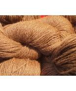 Med Brown 100% Huacaya Milled Alpaca Yarn 3 ply 4 ounce DK/Worsted/Sport... - $22.00