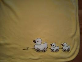 Gymboree Baby Blanket White Yellow 3 Ducks Reversible Embroidered Unisex... - $19.75