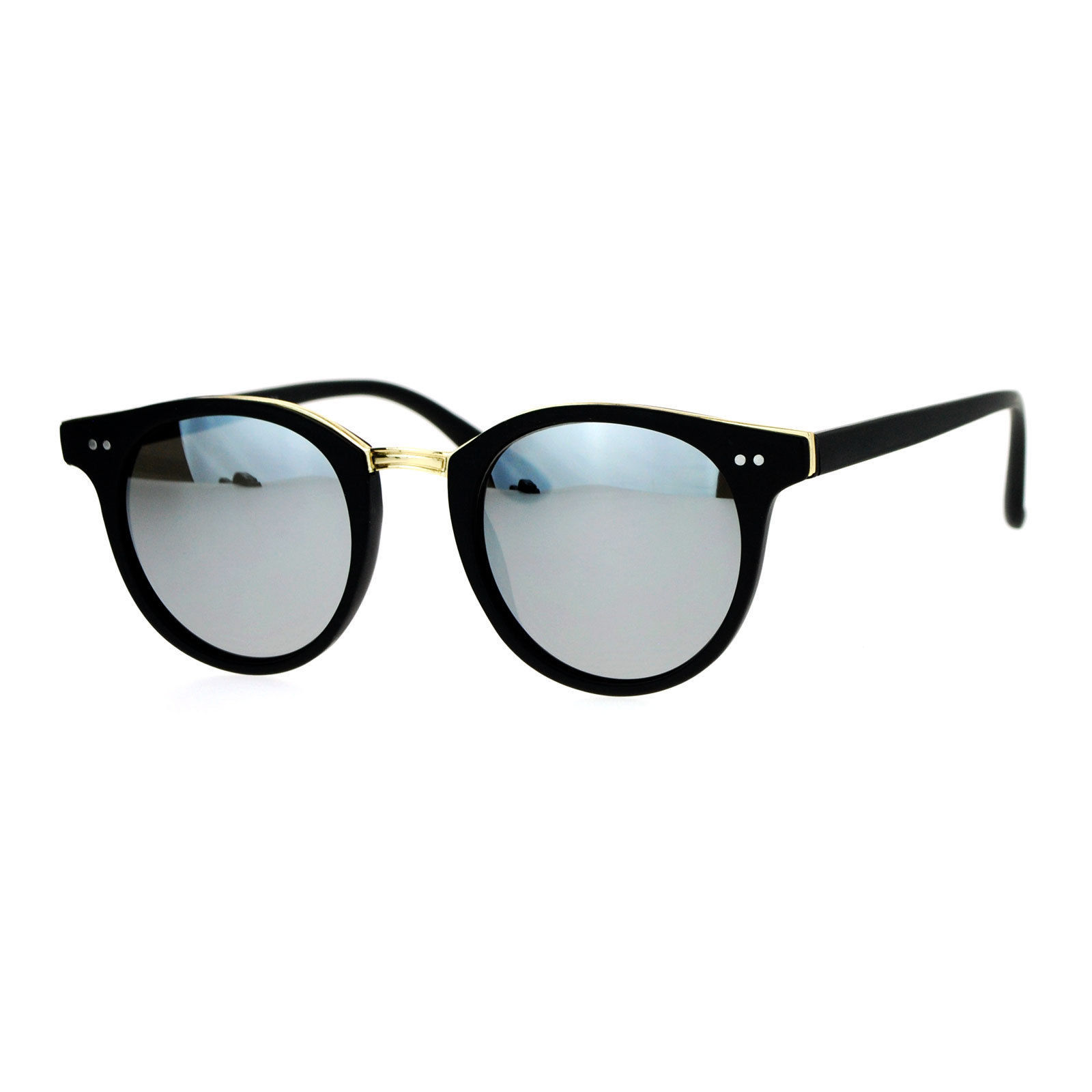 Vintage Retro Unisex Fashion Sunglasses Round Horn Rim Double Frame