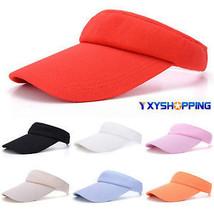 Men Women Adjustable Plain Sun Protection Outdoor Cap Sports Hat Tennis ... - $15.85