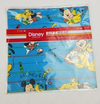 Vintage Cleo Disney's Mickey Mouse Pluto gift wrap paper sealed 2 sheets - $12.47