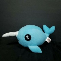 Narwhal Plush Stuffed Animal Horn Whale Blue  White Peek a Boo Toys Soft... - $14.84